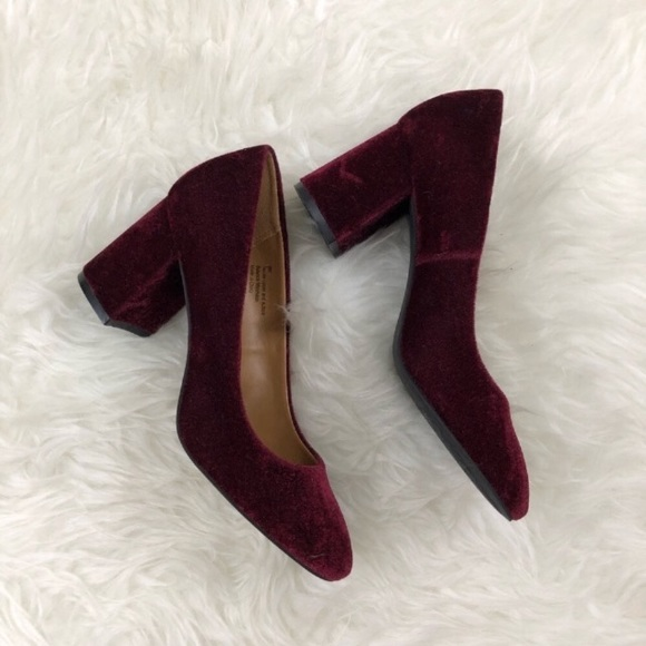 da4ec834c58 14th   Union Josette Pump in Maroon velvet heels